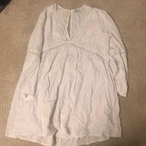 White flowy dress from Lush